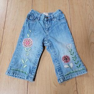 BABY GAP EMBROIDERED FLOWERS JEANS